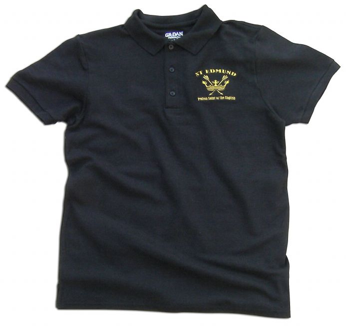 St Edmund Polo Shirt Black - Patron Saint of the English